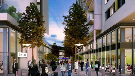 An artist's impression of Finsbury Park Station's new western entrance