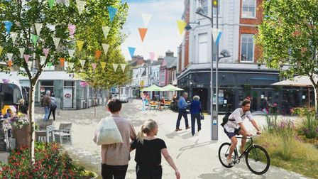 A CGI image produced for the Lowestoft Masterplan for what the Station Quarter area could look like.