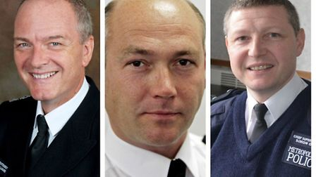 Left to right: Borough commanders Michael Gallagher from Brent, Adrian Usher from Barnet and Simon O