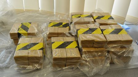 Some of the heroin recovered in the sting (Picture: NCA)