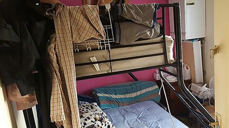 The bunk beds were crammed into the rooms (Pic: Brent Council)