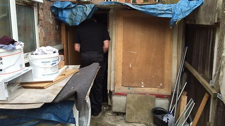 The only woman living at the address satyed inside the wooden shack (Pic: Brent Council)