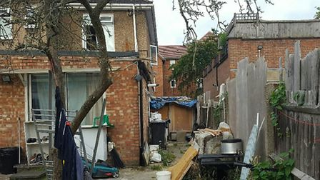 The back garden had a wooden shack in it (Pic: Brent Council)