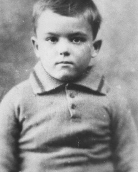 First known picture of Fred Hodge as an eight-year-old on entering Dr Barnardo's