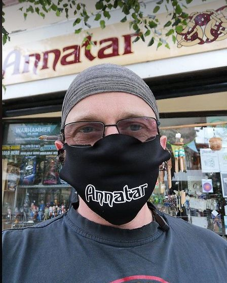 Annatar gift shop on London Road North, Lowestoft has new washable face masks for sale in store. Pic
