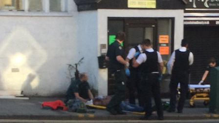 Police and paramedics at the scene this morning (Pic: Twitter@1976anitapatel)