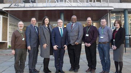 Islington Council leader Richard Watts outside Finsbury Library in January