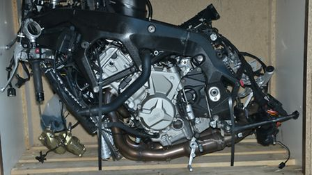 Parts from a stolen motorbike (Pic: City of London Police)