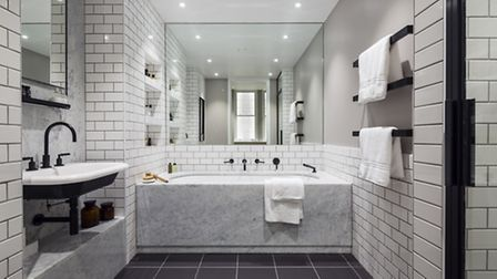 The bathrooms feature products products sourced from the Islington branch of Aesop
