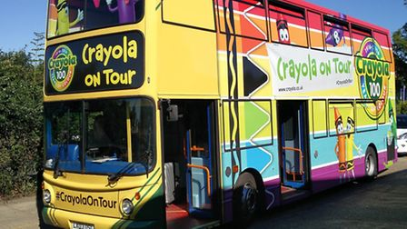 The Crayola Tour bus is coming to Toys R Us in Brent Cross