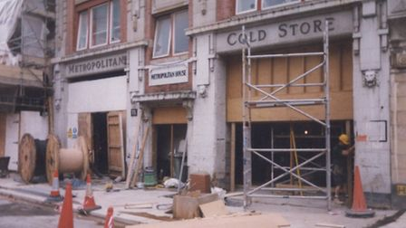 Fabric in Charterhouse Street under construction in the late 1990s. Picture: Fabric