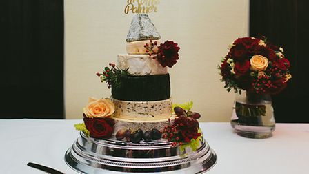 """One of the cheese wedding """"cakes"""" made by Pistacio & Pickle in Camden Passage, Islington. Picture: P"""
