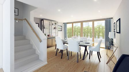 The interior of one of the townhouses at Canonbury Cross