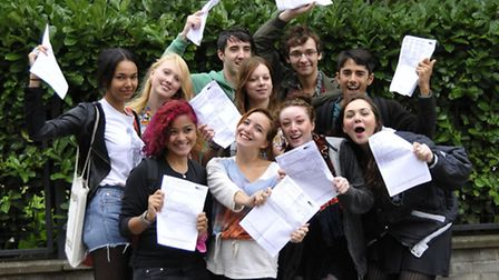 More pupils celebrating last year's results