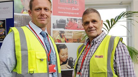 Peter and Alan Arthy at the Mears Group HQ in Caledonian Road