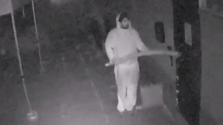 The thief was caught on CCTV breaking into the clubhouse