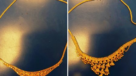 Police have recovered these necklaces (Pic: Twitter@MPSBrent)