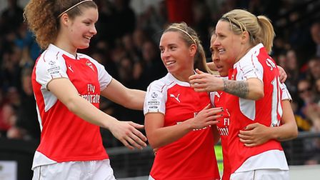 Kelly Smith (right) scored the Arsenal Ladies equaliser as they came from behind to beat Notts Count
