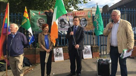 Peter Middleton, chairman of the London Easter 1916 Centenary Committee, at the Roger Casement 100-y