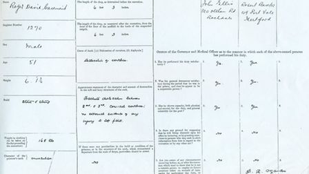 A rare picture of the execution notice of Roger Casement. Picture: Richard Clark