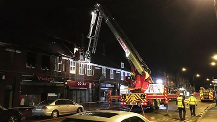 The fire took place in Preston Road yesterday evening (Pic: Twitter@LFB_Brent)