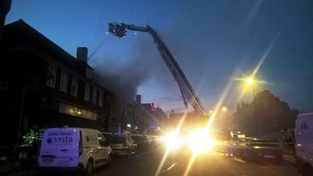 The fire took place in Preston Road yesterday evening (Pic: Twitter@LondonFire)