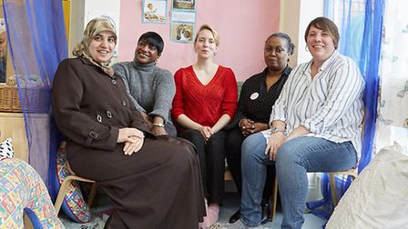 Maternity Champions helping families in Queen's Park's Mozart Estate Picture credit: Oliver Edwa
