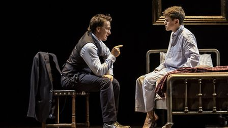 Jamie Parker and Sam Clemmett in Harry Potter and the Cursed Child