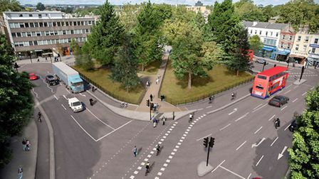 An artist's impression of the proposed Highbury Corner changes. Picture: TfL