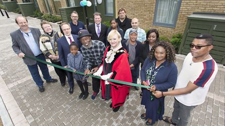 Islington Council unveiled 13 new flats at the Brunswick Court Estate in Finsbury. Lennox Charles, c