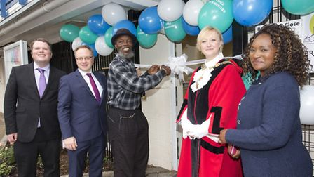 Islington Council unveiled 13 new flats at the Brunswick Court Estate in Finsbury. Lennox Charles cu