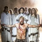 Tyrone Huntley and Declan Bennett as Judas and Jesus. Picture: Johan Persson