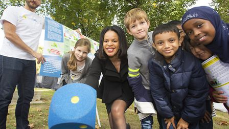 Cllr Claudia Webbe, centre, was one of few London authority leaders to mark World Car Free Day in Is