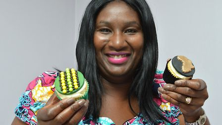 Cynthia Akinsanya is making cup cakes for Black History Month. Picture: Polly Hancock