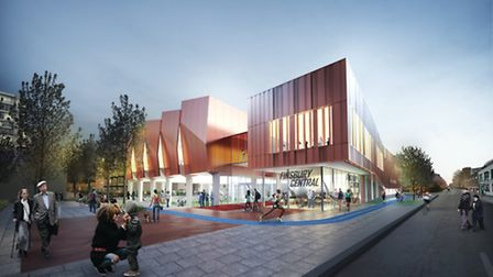 Finsbury Leisure Centre, seen in an artist's impression by Pollard Thomas Edwards Architects, is one