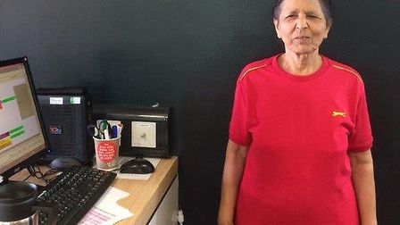 Olive D'Cruz, 79, who exercise at Vale Farm Sports Centre has become Everyone Active's Member of the