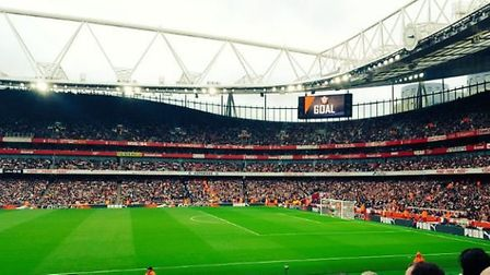The Emirates during the Premier League match between Arsenal and Southampton