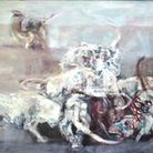 Keith Cunningham, Fighting Dogs, ca 1954 - 1960, oil on canvas, 182x122cm