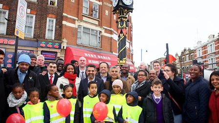 Celebration as Jubilee Clock returns to Harlesden Town Centre