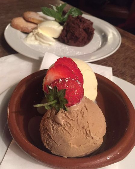 Dessert at the Lady Mildmay. Picture: Carline Cheng
