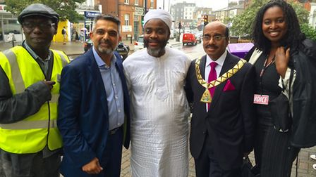 Cllr Bobby Thomas, whose idea it was to hold the Harlesden Festival with Cllr Muhammed Butt,Mustapha