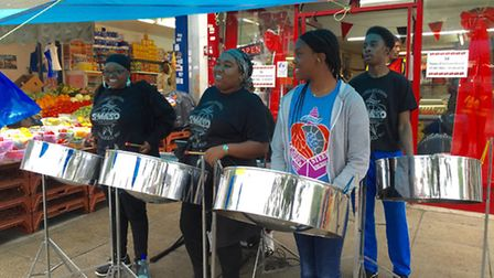 St Michael and All Angels Steel Band performed at Harlesden's first community festival
