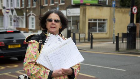 Heather Jones at the junction where she was fined (Photo by Adam Tiernan Thomas)