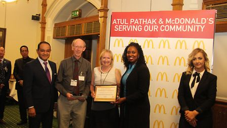 NorthWest TWO Residents Association receives award from Atul Pathak, OBE, at the Atul Pathak Communi