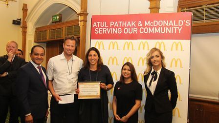 The Adnan Jaffery Education Trust receives award from Atul Pathak, OBE, at the Atul Pathak Community