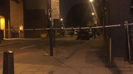 The cordon was still up about 8.30pm
