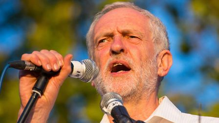 Jeremy Corbyn at a Black Lives Matter rally in Highbury Fields, part of his current Islington North