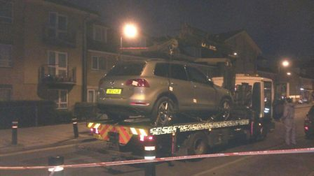 Police taking away the car away for further tests