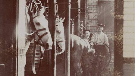 Upper Street fire station stables in the early 20th century. Picture: Islington Local History Centre