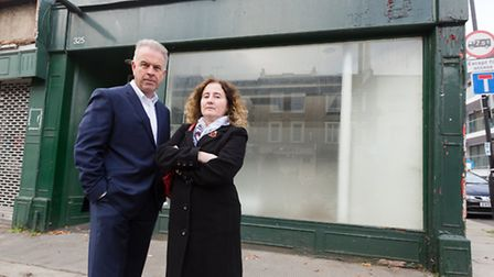 Cllrs Convery and Una O'Halloran pictured last year outside the premises soon to be occupied by Padd